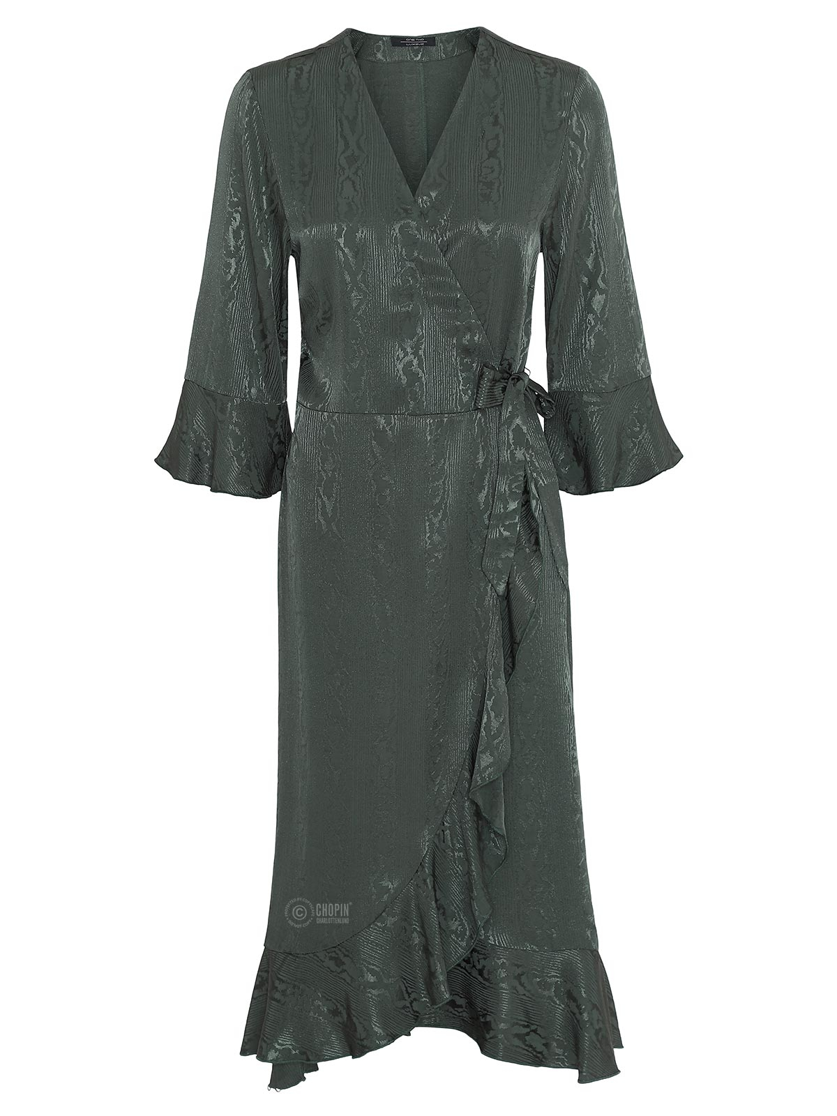 5a0aac74dadd One Two Luxzuz Fenja wrap dress Dark jungle - kjole 4532-1578 » CHOPIN®