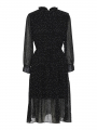 Chopin Franka paint dress - Black