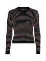 Chopin Firenze stripe knit - Black/rose