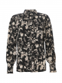 Chopin Philippa flower shirt - Black