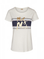 Mos Mosh Jenner foil S/S tee - Off white