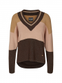 Mos Mosh Aggi stripe knit - Coffee bean