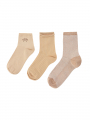 Mos Mosh Lurex socks 3. stk - Pebble
