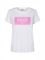 Mos Mosh Cherie S/S O-neck tee - Bubble pink