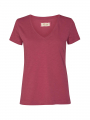 Mos Mosh Arden Organic V-neck - Earth red