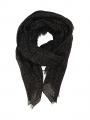 Black Colour Diva scarf - Tabacco