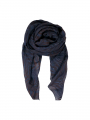 Black Colour Zebra scarf - navyred