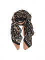 Black Colour Dakota leo scarf - Camel