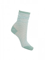 Black Colour Diamond lurex sock - Mint