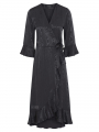 One Two Luxzuz Fenja wrap dress - Asphalt