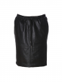 One Two Luxzuz Madeleine coated suede skirt - Black