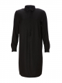 One Two Luxzuz Magda long shirt dress - Black