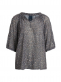 One Two Luxzuz Ranva items S/S top - Rock grey