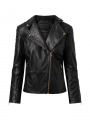 Depeche Madrid leather jacket w/studs - Gold