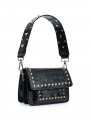 the Rubz  Scarlett medium croc studs bag - Black