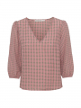 Costamani Duran check top - Sand/rosa