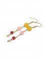 by Bram Color pearl earrings - Yellow