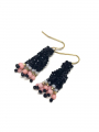 by Bram Six roe pearl earrings - Black