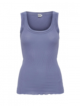 Saint Tropez Silk tank top - Denim blue