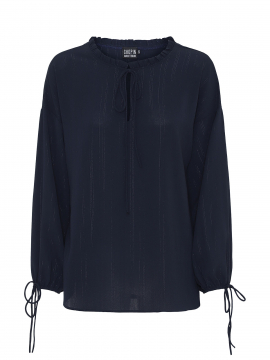Chopin Katja trible stripe shirt - Navy
