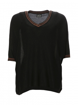 Chopin New Saga shine top - Black