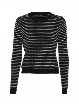 Chopin Firenze stripe knit - Black/silver