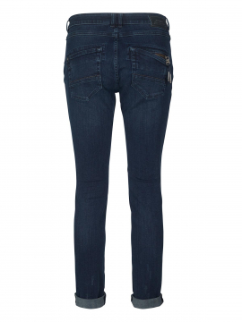 Mos Mosh Naomi leaves jeans - Dark blue denim
