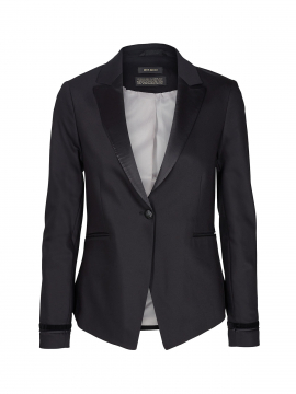 Mos Mosh Blake Smoking Blazer - Black
