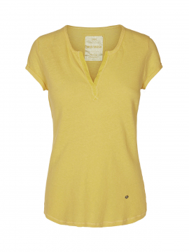Mos Mosh Troy tee - Soft lemon