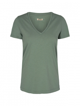 Mos Mosh Arden V-neck tee - Green bay