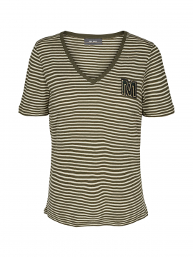 Mos Mosh Alisha V-neck S/S Tee - Forest night