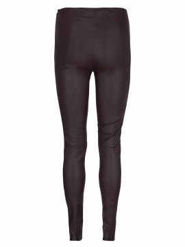 Mos Mosh Lucille stretch leather legging - Coffee bean