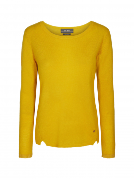 Mos Mosh Sophia O-neck cashmere - Yellow gold