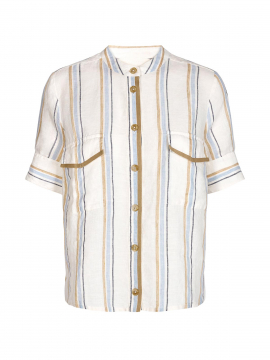 Mos Mosh Katy kian S/S shirt - Blue stripe
