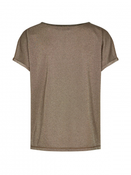 Mos Mosh Kay S/S o-neck tee - Chocolate chip