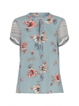Costamani AF Helen flower top - Aqua
