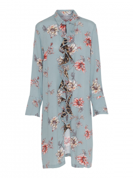 Costamani Ac Sine flower dress - Aqua