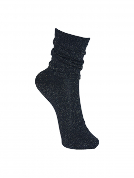 Black Colour Lurex sock - New navy
