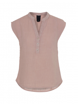 One Two Luxzuz Kika linnen top - Vintage rose