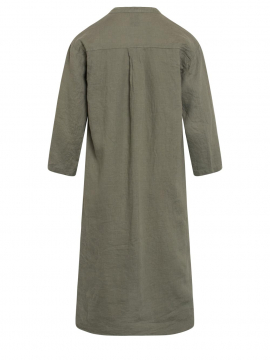 One Two Luxzuz Kirta linnen dress - Army