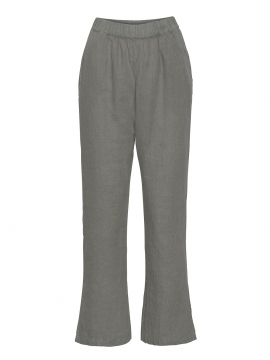 One Two Luxzuz Botelle linnen pant - Dark army