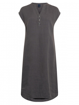 One Two Luxzuz Kikari linnen dress - Slate grey