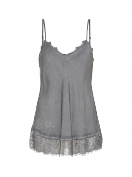 Fashion by Blue Noomi strap top - Dark grey