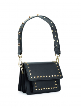 the Rubz Scarlett medium plain studs bag - Black