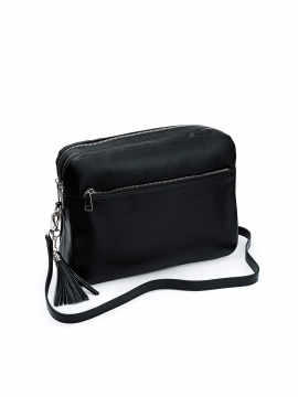 the Rubz Cindy large crossbody - Plain black