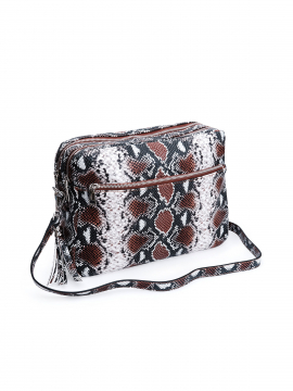 the Rubz Cindy large snake crossbody - Coffee