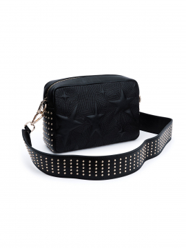 the Rubz Roxana medium studs quilt crossbody - Black