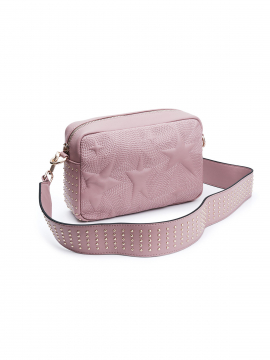 the Rubz Roxana medium studs quilt crossbody - Rose