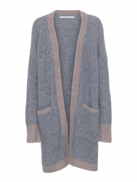 Costamani Beth knit cardigan - Camel/grey