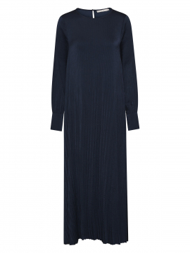 Costamani Recycle plizze long dress - Navy